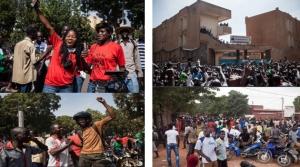 © Le Monde.fr (compilation d'images choisies sur la liesse populaire dans les rues de Ouaga suite à la démission de Blaise Compaoré)